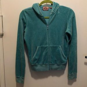 Juicy Couture light blue velour hoodie